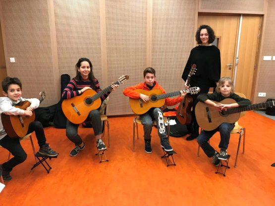 ensemble de guitares
